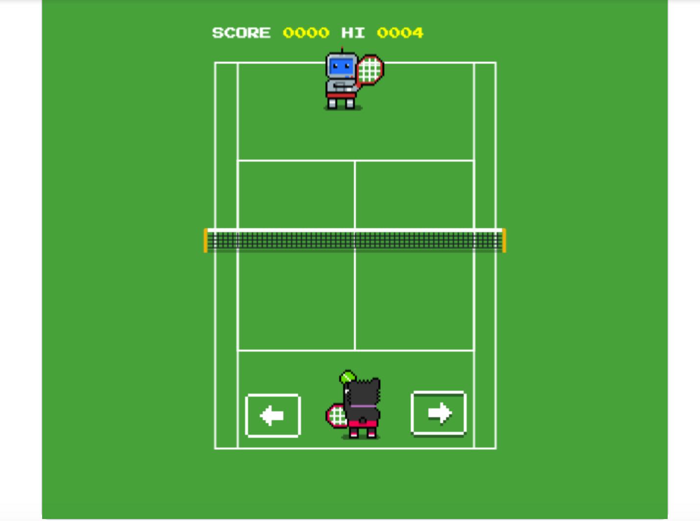 Google tenis juego
