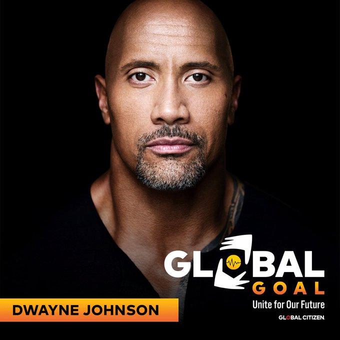Global Goal the rock