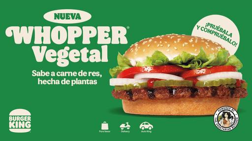 Burguer King Hamburguesa Vegetariana